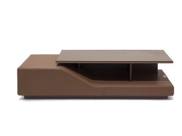 Leather bistro side table with storage space for living room V133 | Coffee table by Aston Martin