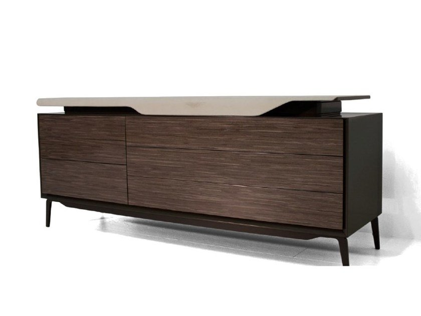 Lacquered wooden dresser V150 | Chest of drawers by Aston Martin