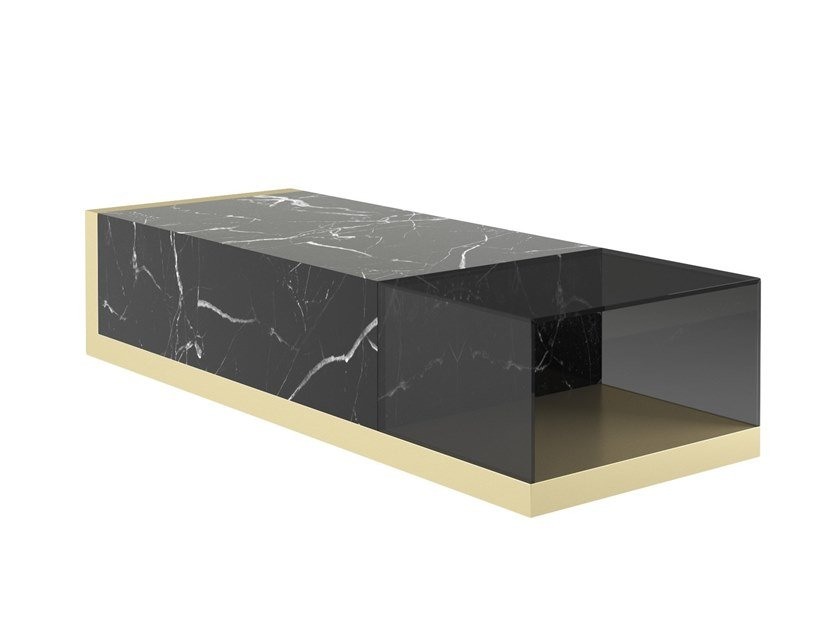 Rectangular Nero Marquina marble coffee table V226 by Aston Martin