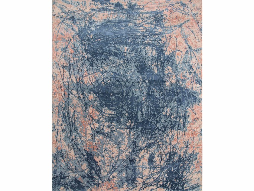 Patterned rug VAHINA ESK-441 Rose Smoke/Skyline Blue by Jaipur Rugs