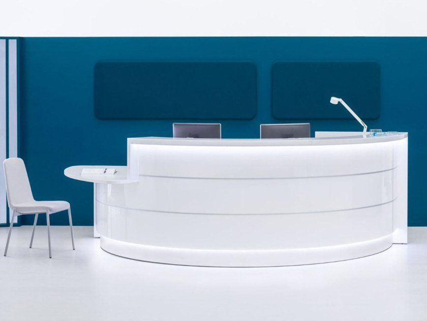 Modular Office reception desk VALDE | Modular Office reception desk by MDD