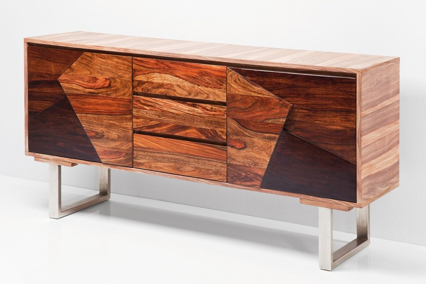 Wooden sideboard with doors VALENCIA | Sideboard by KARE-DESIGN