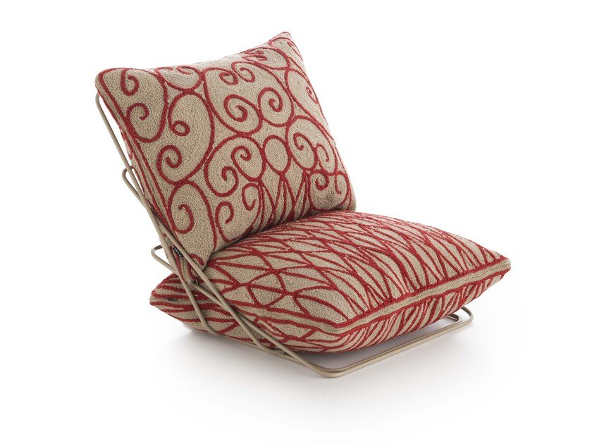 Wool armchair with removable cover VALENTINA   Armchair by GAN