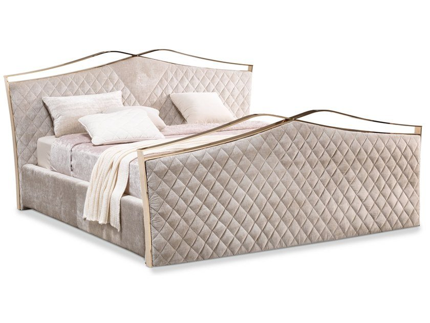Upholstered velvet bed double bed VALENTINO | Bed by Cantori