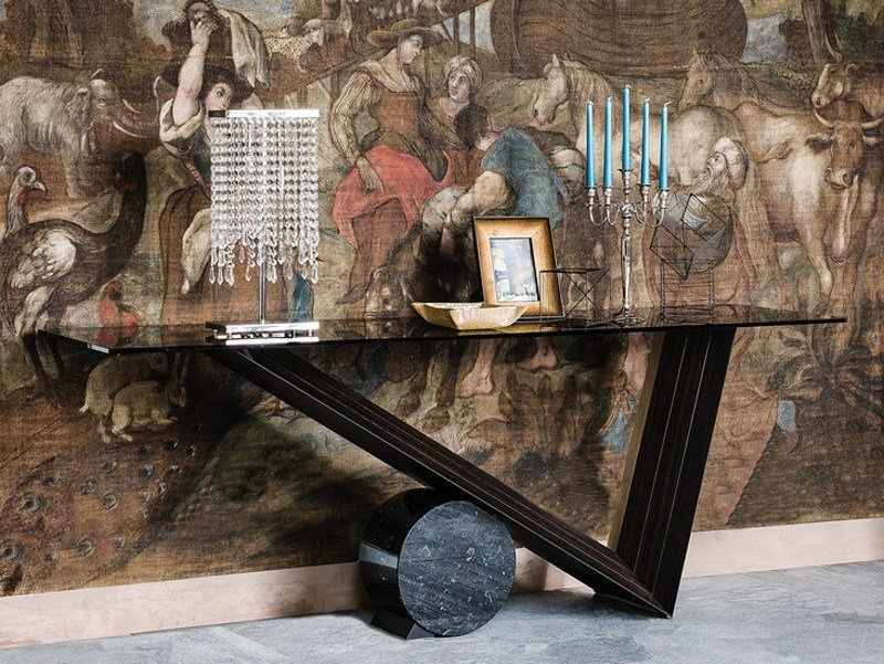 Rectangular crystal console table VALENTINO | Console table by Cattelan Italia