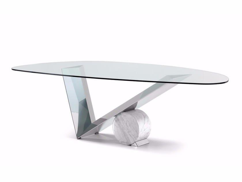 Crystal table VALENTINOX | Table by Cattelan Italia