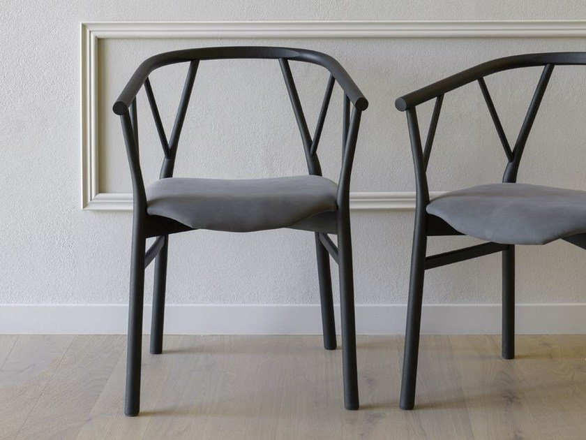 Wooden chair with armrests VALERIE | Chair by Miniforms