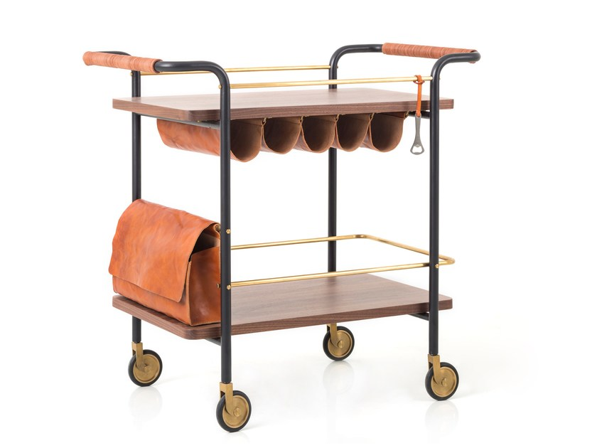 Bar cart VALET BAR CART by STELLAR WORKS