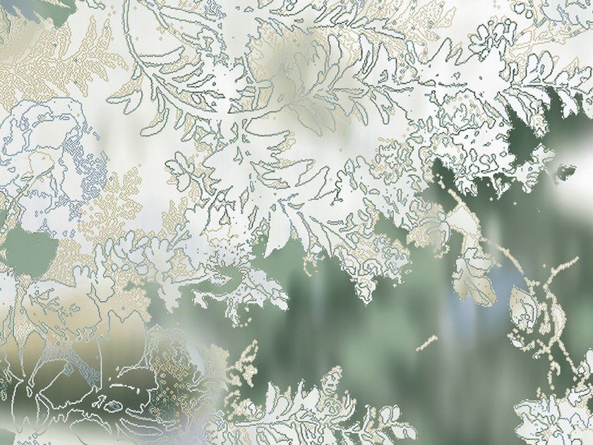 Motif non-woven paper wallpaper VAN GREEN by EXTRATAPETE