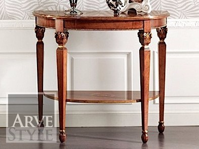 Demilune solid wood console table VANIA | Console table by Arvestyle