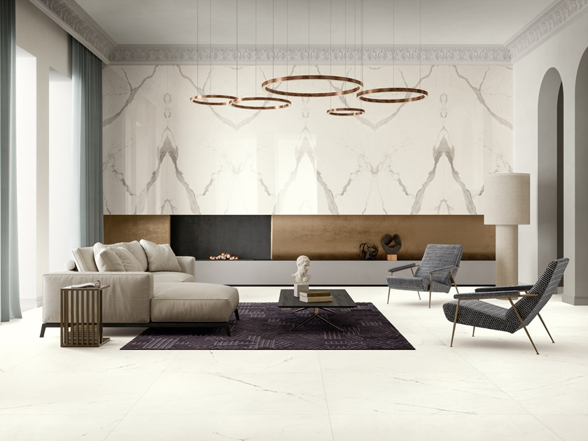 Ultra thin laminated stoneware wall/floor tiles with marble effect VANITY by COTTO D'ESTE
