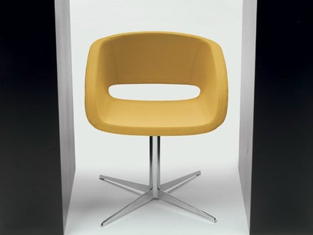 Reception chair with 4-spoke base VANITY | Chair with 4-spoke base by Diemme
