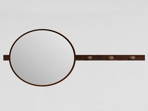 Corten™ mirror / coat rack VANITY by TrackDesign