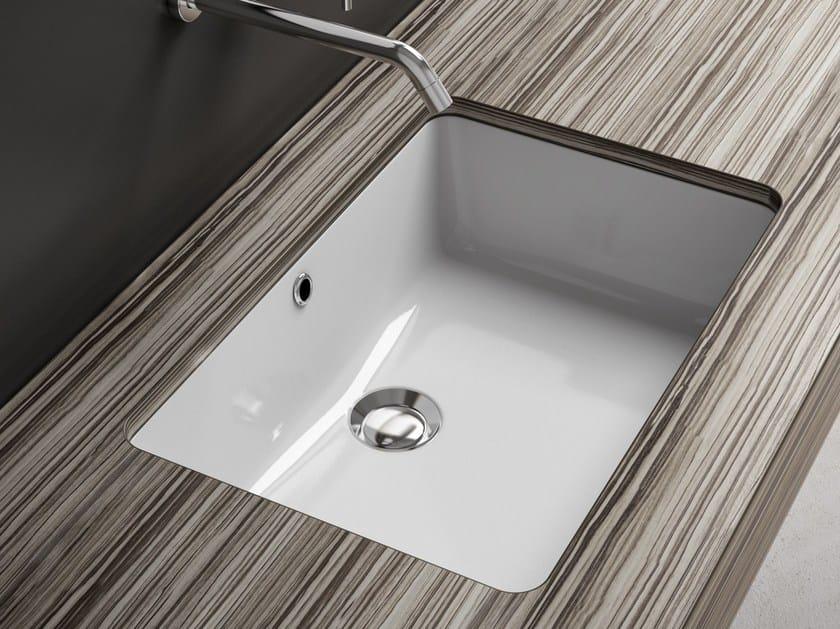 Undermount rectangular ceramic washbasin VANITY WASHBASINS | Ceramic washbasin by Olympia Ceramica