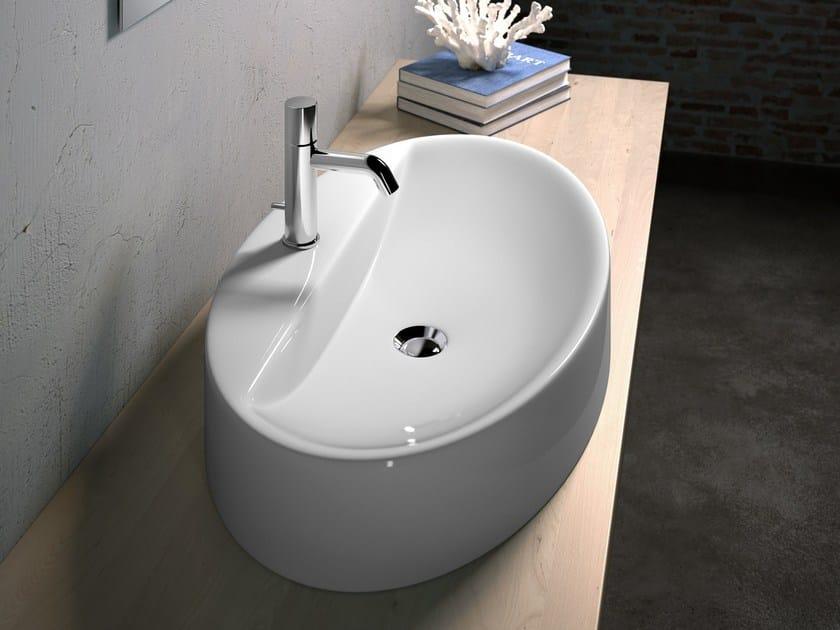 Countertop oval washbasin VANITY WASHBASINS | Oval washbasin by Olympia Ceramica
