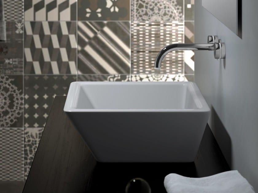 Countertop square washbasin VANITY WASHBASINS | Square washbasin by Olympia Ceramica