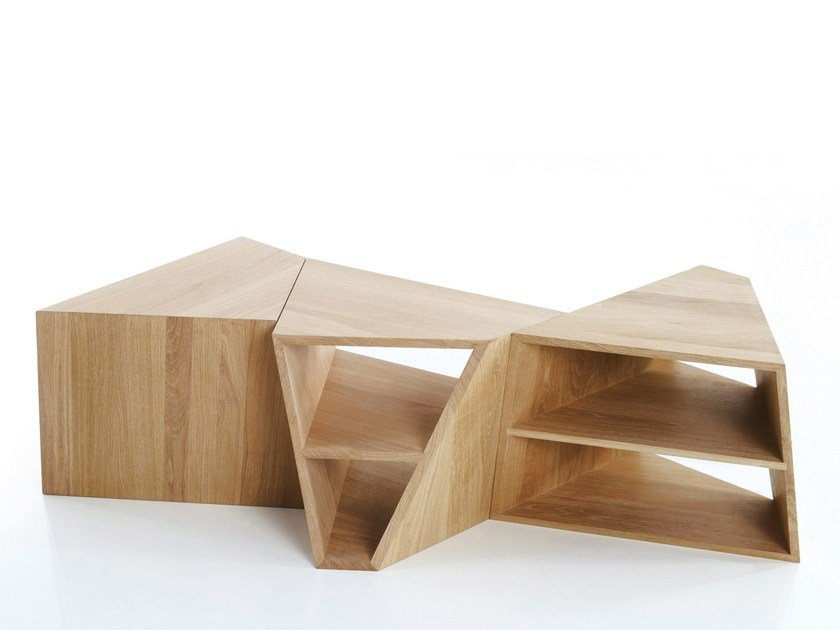 Modular side table with integrated magazine rack VARAN | Side table by more