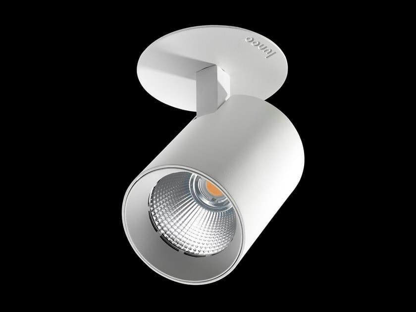 LED adjustable round powder coated aluminium spotlight VARO FLOW DISC by LUNOO