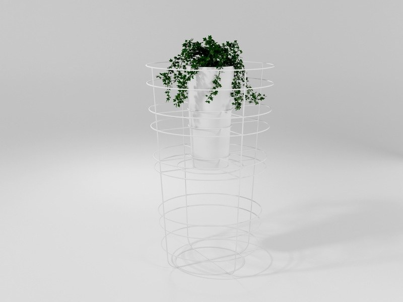 Planter in solid iron rod worked by hand VASO by Barel