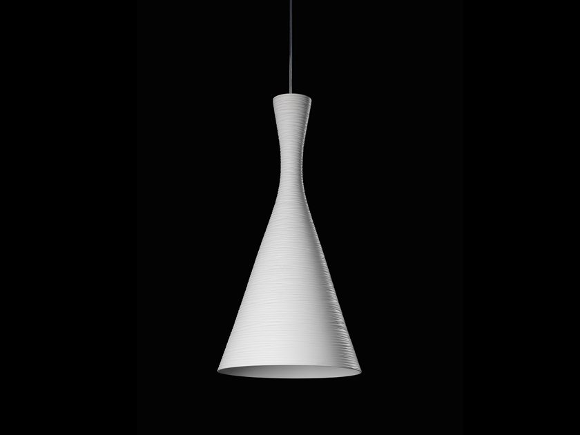 Lampada a sospensione alogena in alluminio verniciato a polvere VASO LINEA by LUNOO
