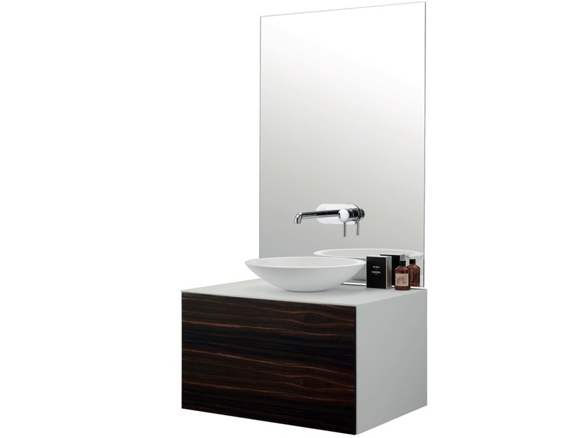Single wall-mounted vanity unit with drawers VASQUE by Swiss Concepts