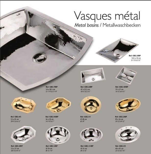 Lavabo da appoggio da incasso soprapiano ovale in metallo in stile classico VASQUES METAL | Lavabo in metallo by INTERCONTACT