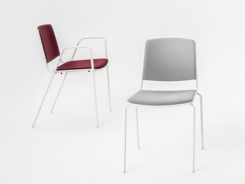 Polypropylene chair with armrests VEA | Chair with armrests by Mara