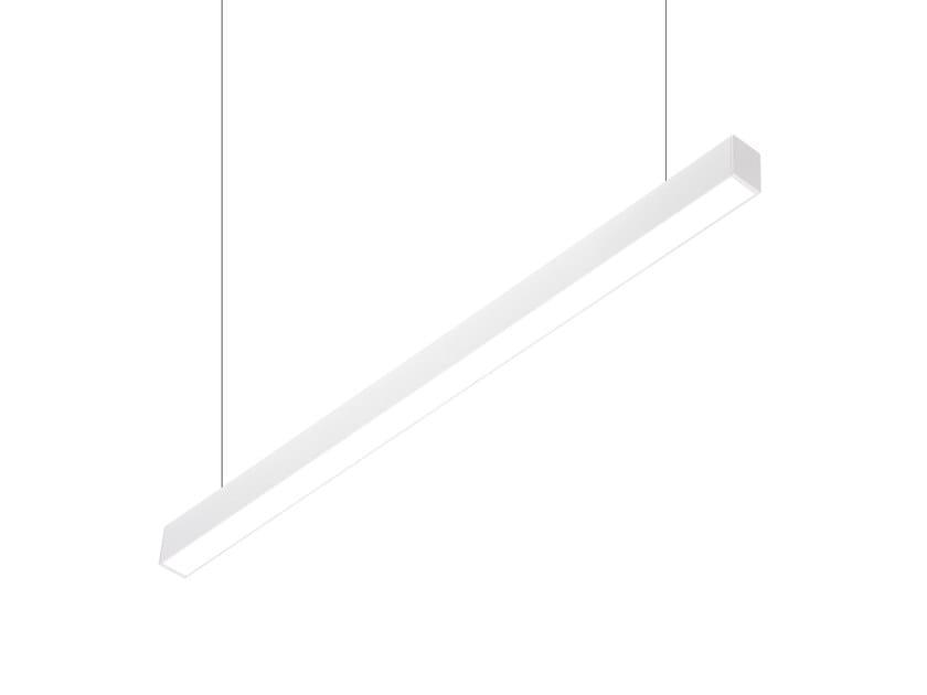 LED direct-indirect light aluminium pendant lamp VECTOR A 9820 PO by Metalmek