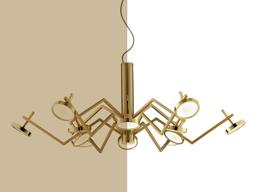 Metal chandelier VECTOR by Euroluce Lampadari