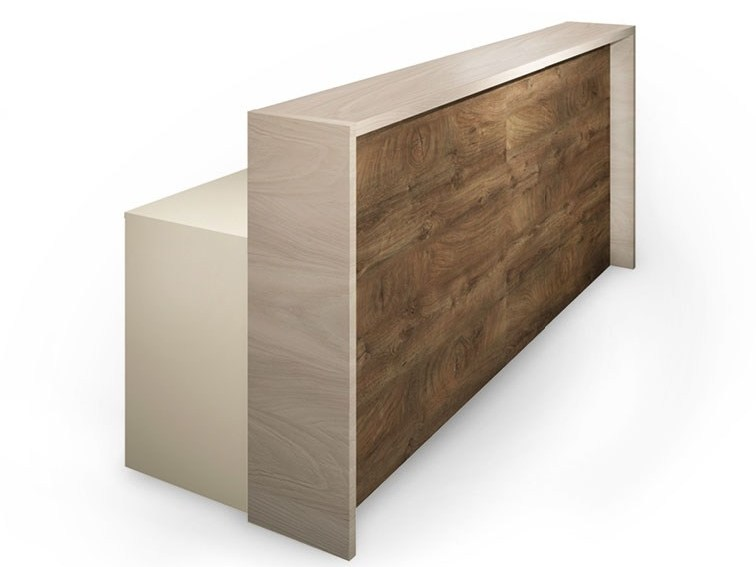 Wooden Reception desk VECTOR by FIT INTERIORS