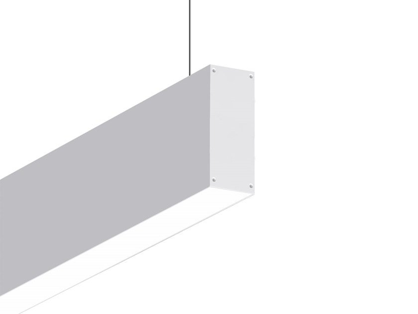 LED direct-indirect light aluminium pendant lamp VECTOR M D-I 9708 OP by Metalmek