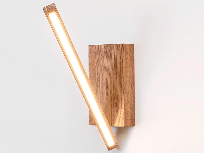 Lampada da parete a LED in legno VECTOR by NEXT LEVEL DESIGN STUDIO