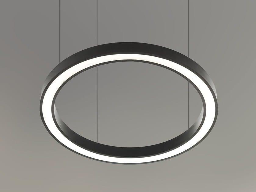 LED direct light aluminium pendant lamp VECTOR ROUND D 9736 by Metalmek