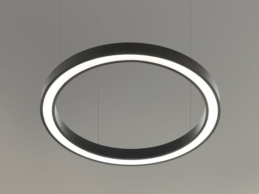 LED direct-indirect light pendant lamp VECTOR ROUND D-I 9735 by Metalmek