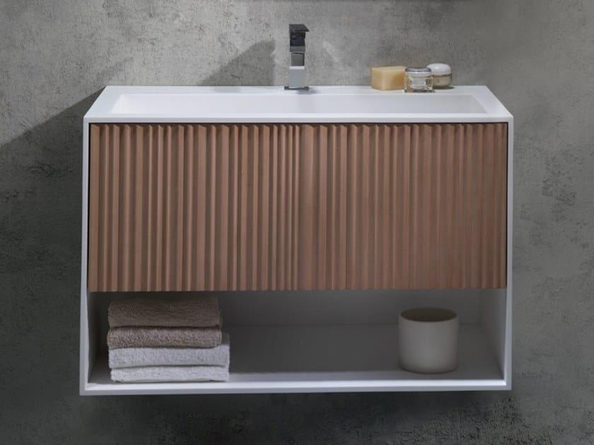 Wall-mounted Solid Surface vanity unit VEER   Vanity unit by Blu Bleu