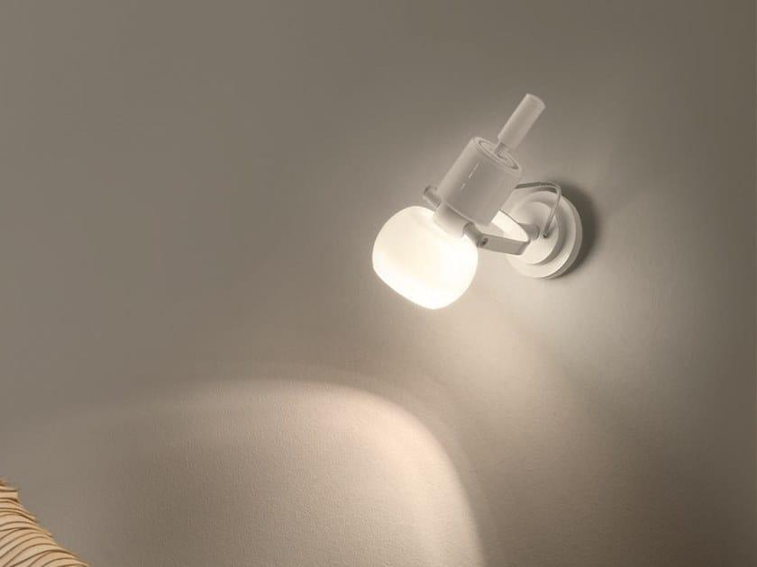 Wall-mounted adjustable spotlight VEGA AP by Vetreria Vistosi