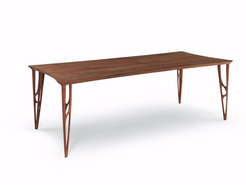 Rectangular solid wood table VEGAN | Rectangular table by Riva 1920
