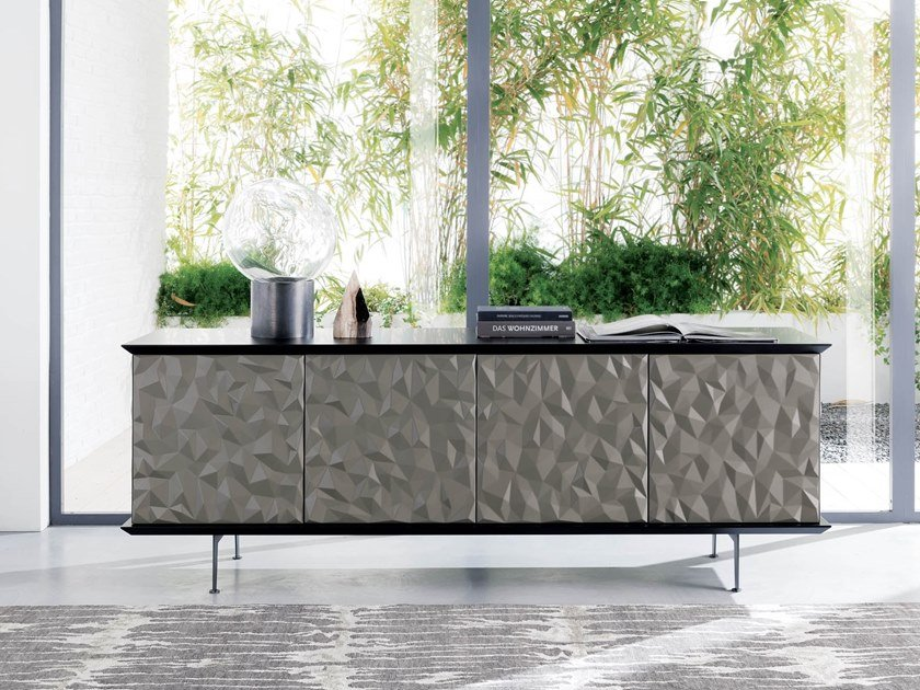 Lacquered sideboard with doors VEGAS by Ozzio Italia