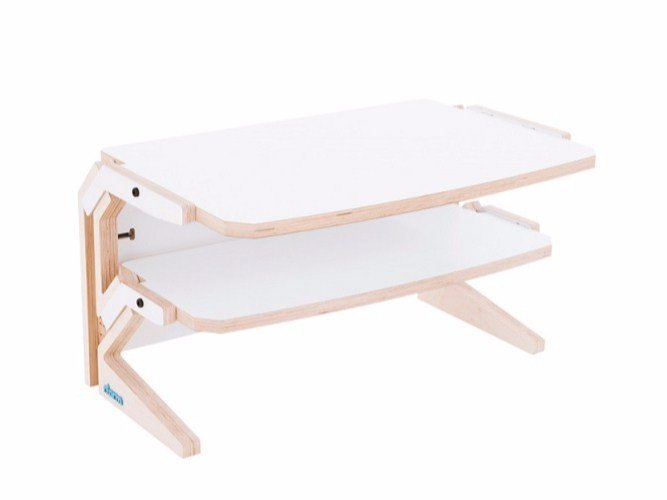 Low coffee table with integrated magazine rack VEGETALE SIDE TABLE by rform