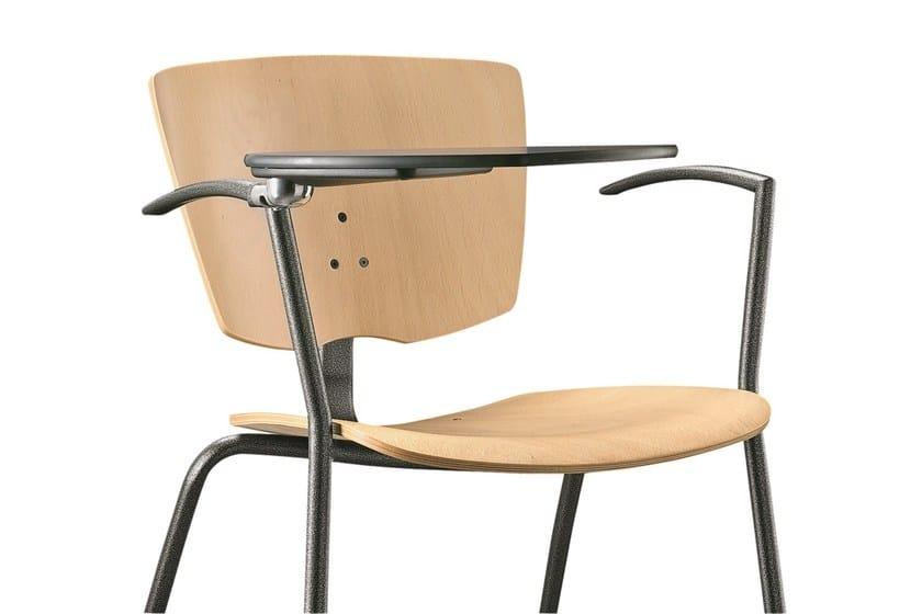 Sedie Ufficio Con Ribaltina : Sedia da conferenza impilabile in multistrato con braccioli con
