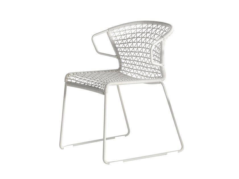 Sled base stackable chair VELA | Sled base chair by Potocco
