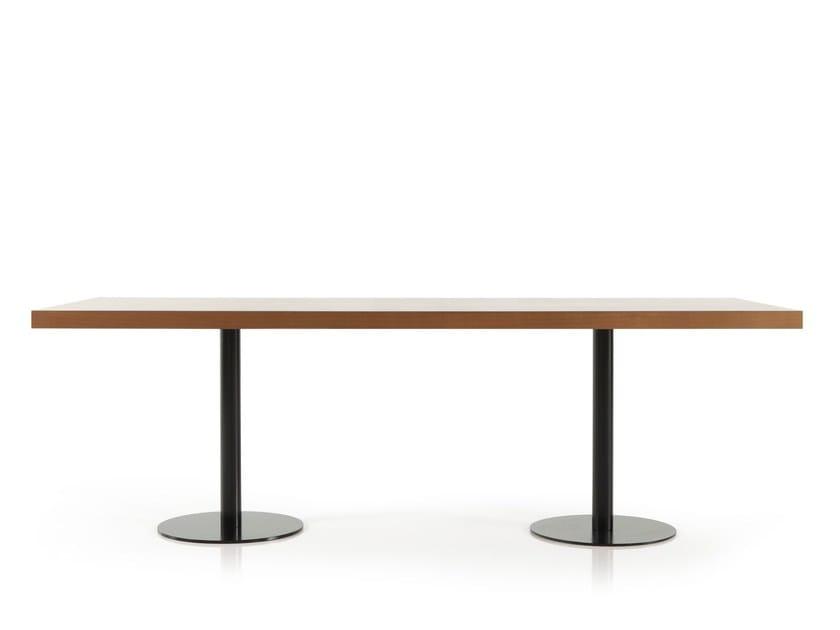Rectangular wooden table VELA-DORA   Rectangular table by Sancal