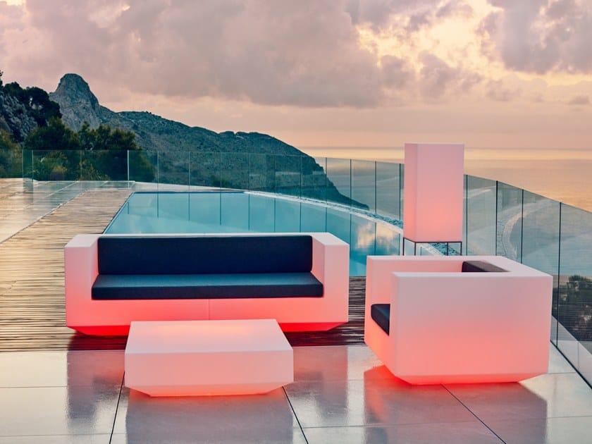 Garden sofa with light VELA | Garden sofa with light by VONDOM
