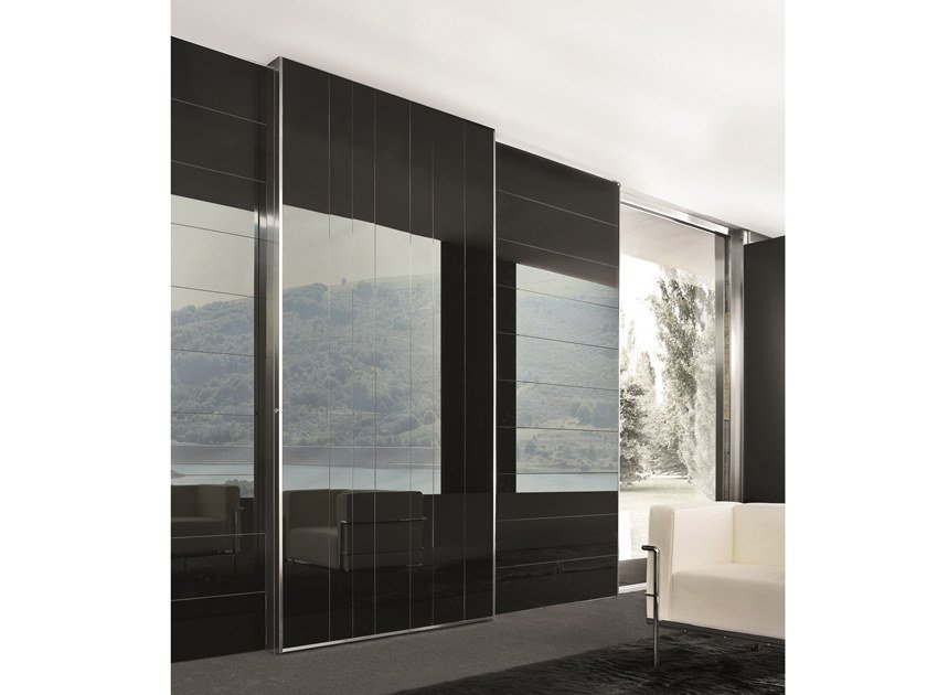 Sliding glass safety door VELA | Glass entry door by OIKOS VENEZIA