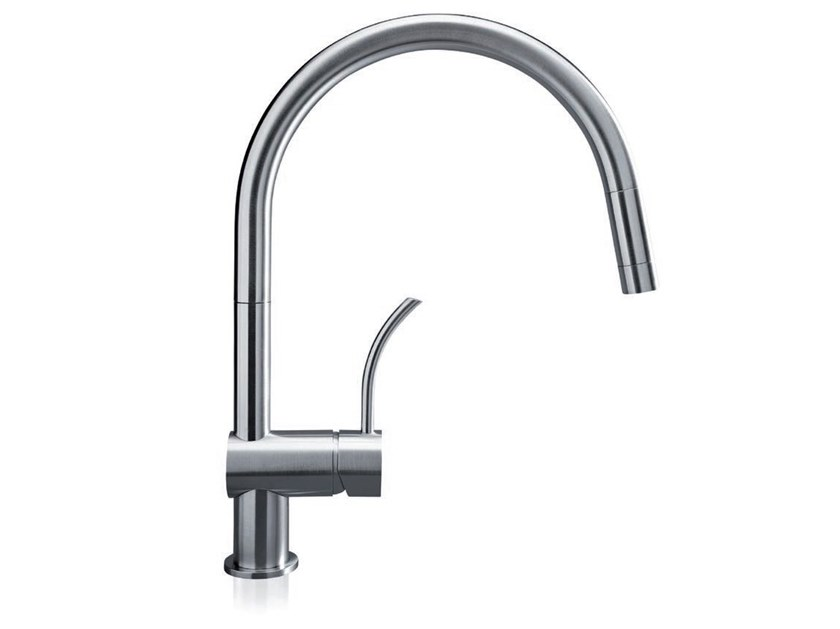 Countertop stainless steel kitchen mixer tap with swivel spout VELA P by MGS