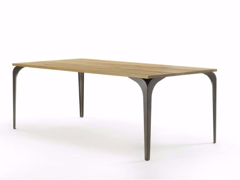 Rectangular solid wood table VELA by Riva 1920