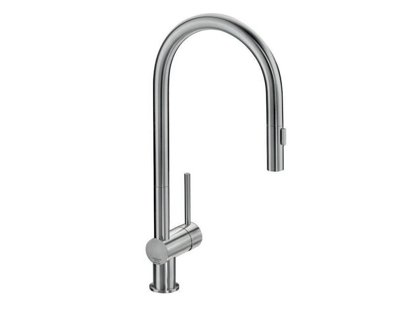 Countertop stainless steel kitchen mixer tap with pull out spray VELA SD by MGS