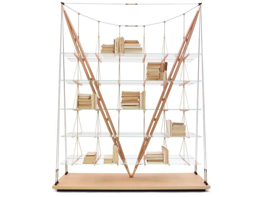 Libreria in legno e vetro 838 VELIERO by Cassina