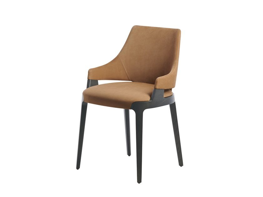 Upholstered leather chair VELIS | Chair by Potocco