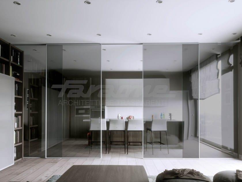 Glass and aluminium sliding door VELO ALU by FARAONE